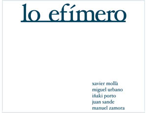Lo Efímero – carpeta i llibre